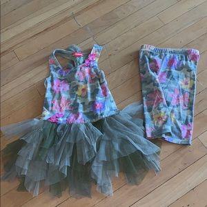Kate Mack 4t army fatigue tutu outfit